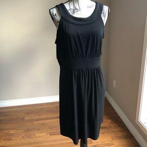 White House Black Market Black Jersey Halter dress